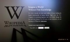 Wikipedia Goes Dark