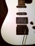 Guitar in black case